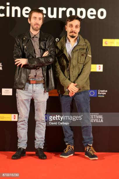 Carlos Rivero and Alonso Valbuena attends the Gala of the European Film Festival of Sevilla on November 3 2017 in Seville Spain