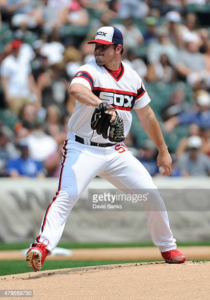 Carlos Rodon of the Chicago White Sox pitches against the Baltimore Orioles during the first inning on July 5 2015 at U S Cellular Field in Chicago...