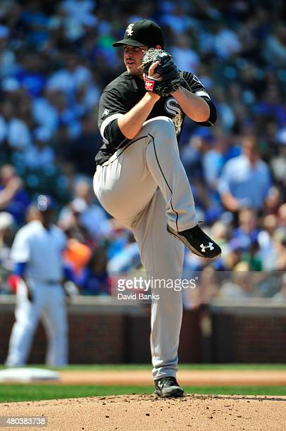 Carlos Rodon of the Chicago White Sox pitches against the Chicago Cubs on July 10 2015 at Wrigley Field in Chicago Illinois The White Sox won 10