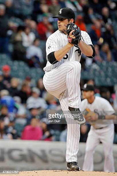 Carlos Rodon of the Chicago White Sox pitches against the Cincinnati Reds during the first inning in the second game of a doubleheader on May 9 2015...