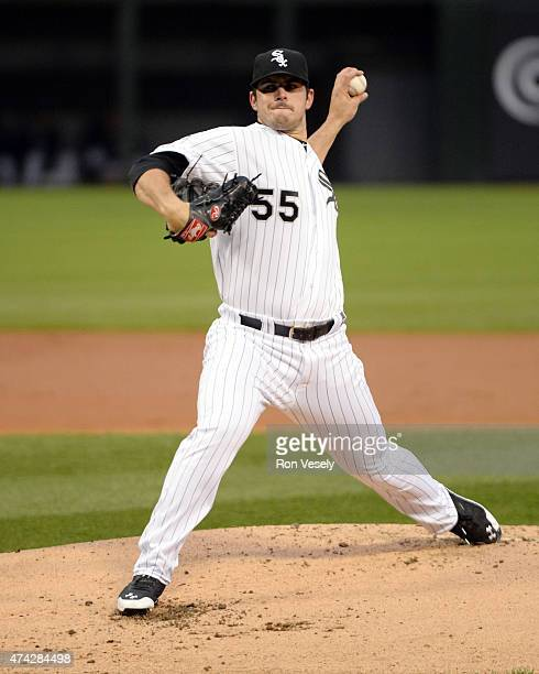 Carlos Rodon of the Chicago White Sox pitches against the Cincinnati Reds on May 5 2015 at US Cellular Field in Chicago Illinois