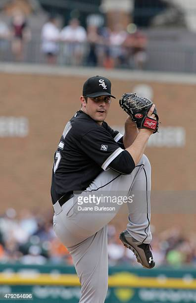 Carlos Rodon of the Chicago White Sox pitches against the Detroit Tigers at Comerica Park on June 25 2015 in Detroit Michigan
