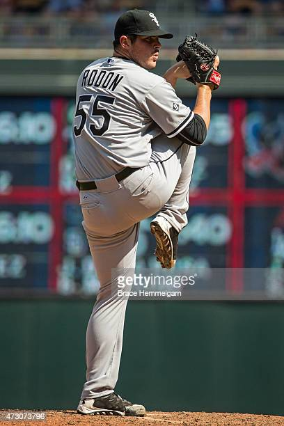 Carlos Rodon of the Chicago White Sox pitches against the Minnesota Twins on May 2 2015 at Target Field in Minneapolis Minnesota The Twins defeated...