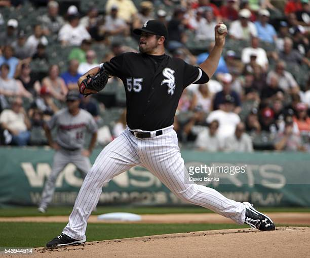 Carlos Rodon of the Chicago White Sox pitches against the Minnesota Twins during the first inning on June 30 2016 at U S Cellular Field in Chicago...