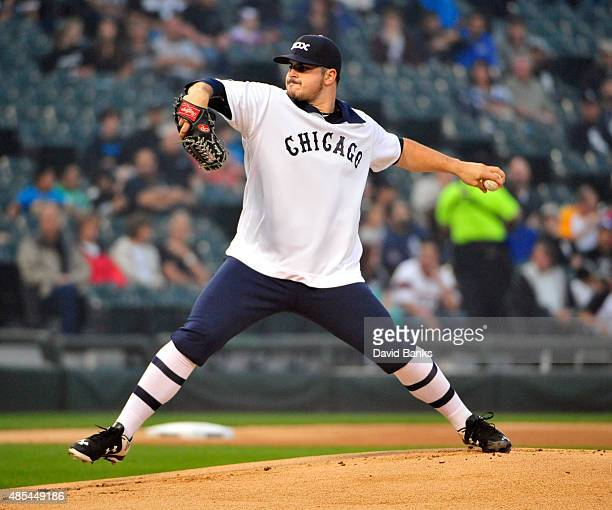 Carlos Rodon of the Chicago White Sox pitches against the Seattle Mariners during the first inning on August 27 2015 at US Cellular Field in Chicago...