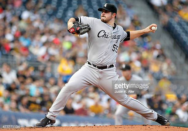 Carlos Rodon of the Chicago White Sox pitches in the first inning during interleague play against the Pittsburgh Pirates at PNC Park on June 15 2015...