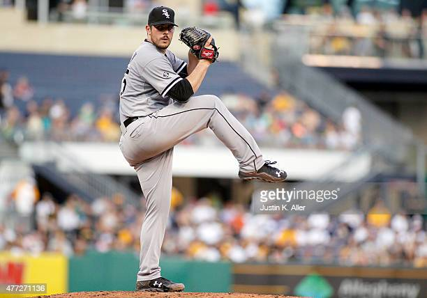 Carlos Rodon of the Chicago White Sox pitches in the fourth inning during interleague play against the Pittsburgh Pirates at PNC Park on June 15 2015...