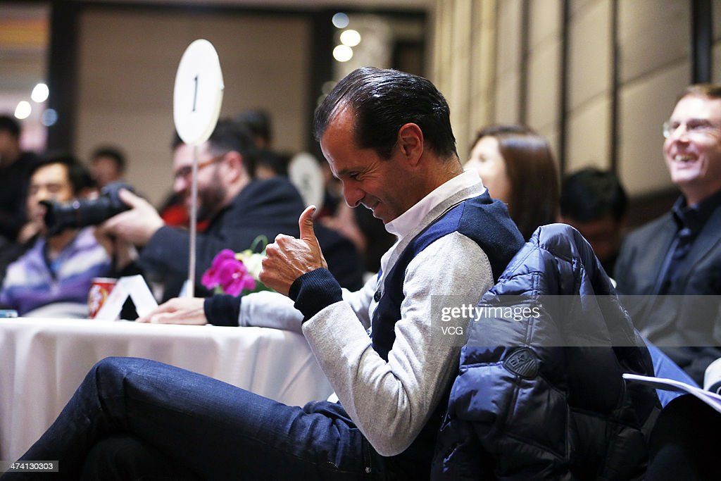 Carlos Rodriguez Li Na's coach attends the celebration of Li Na's Australian Open victory and the launch of 'My Life' Australian Open special edition...