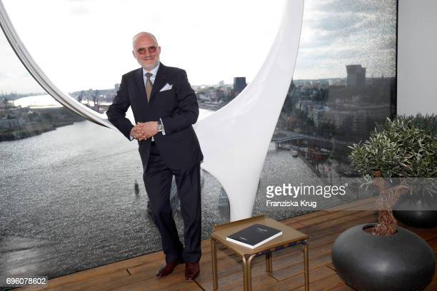 Carlos Rosillo founder and CEO of Bell And Ross attends the Bell Ross Cocktail Party at Elbphilharmonie show apartment on June 14 2017 in Hamburg...