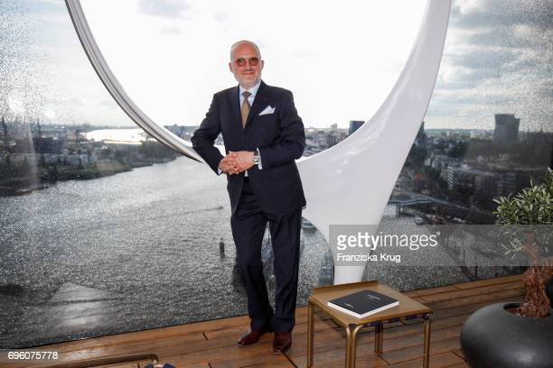 Carlos Rosillo founder and CEO of Bell Ross attends the Bell Ross Cocktail Party at Elbphilharmonie show apartment on June 14 2017 in Hamburg Germany