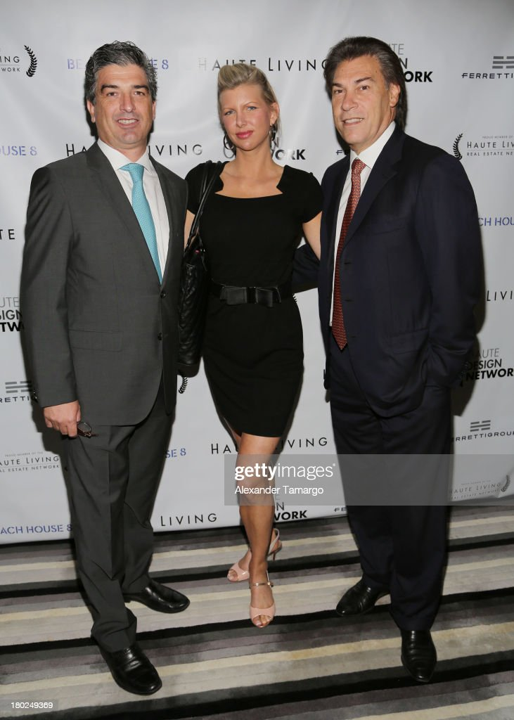 Carlos Rosso, April Donelson and Edgardo Defortuna attend the Haute Magazine Real Estate Summit at the W Hotel South Beach on September 10, 2013 in Miami, Florida.