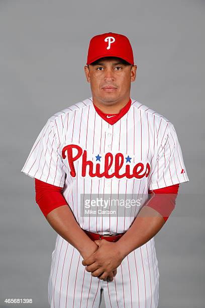 Carlos Ruiz of the Philadelphia Phillies poses during Photo Day on Friday February 27 2015 at Bright House Field in Clearwater Florida
