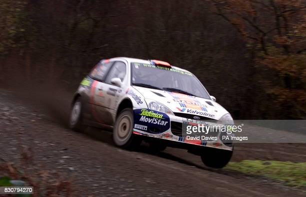 Carlos Sainz in his Ford Focus during the Halfway special stage