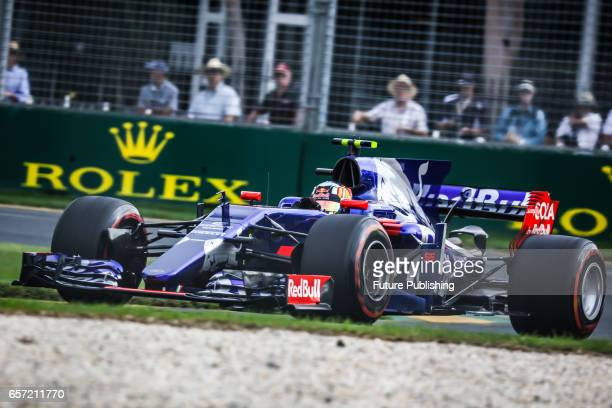 Carlos Sainz Jr of Scuderia Toro Rosso competes in the 2nd F1 practice session at the 2017 Australian Formula 1 Grand Prix on March 24 2017 in...