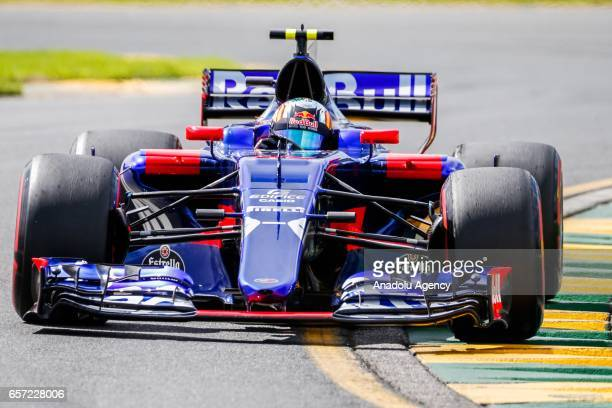 Carlos Sainz Jr of Spain driving for Scuderia Toro Rosso on Friday Free Practice during the 2017 Rolex Australian Formula 1 Grand Prix at Albert Park...