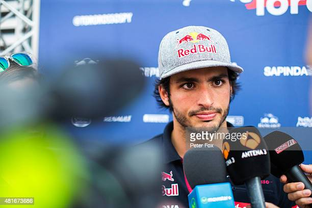 Carlos Sainz of Scuderia Toro Rosso and Spain ahead of the Formula One Grand Prix of Hungary at Hungaroring on July 23 2015 in Budapest Hungary