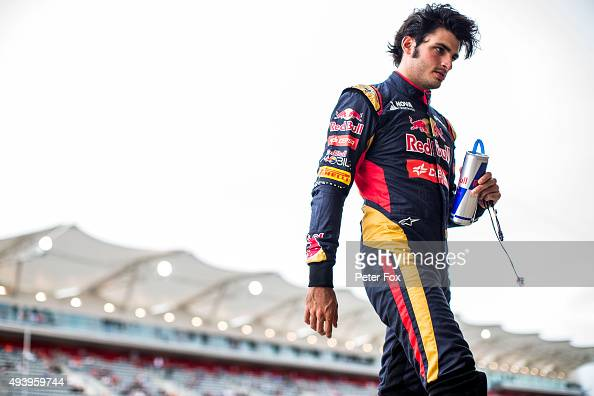 Carlos Sainz of Scuderia Toro Rosso and Spain during practice for the United States Formula One Grand Prix at Circuit of The Americas on October 23...