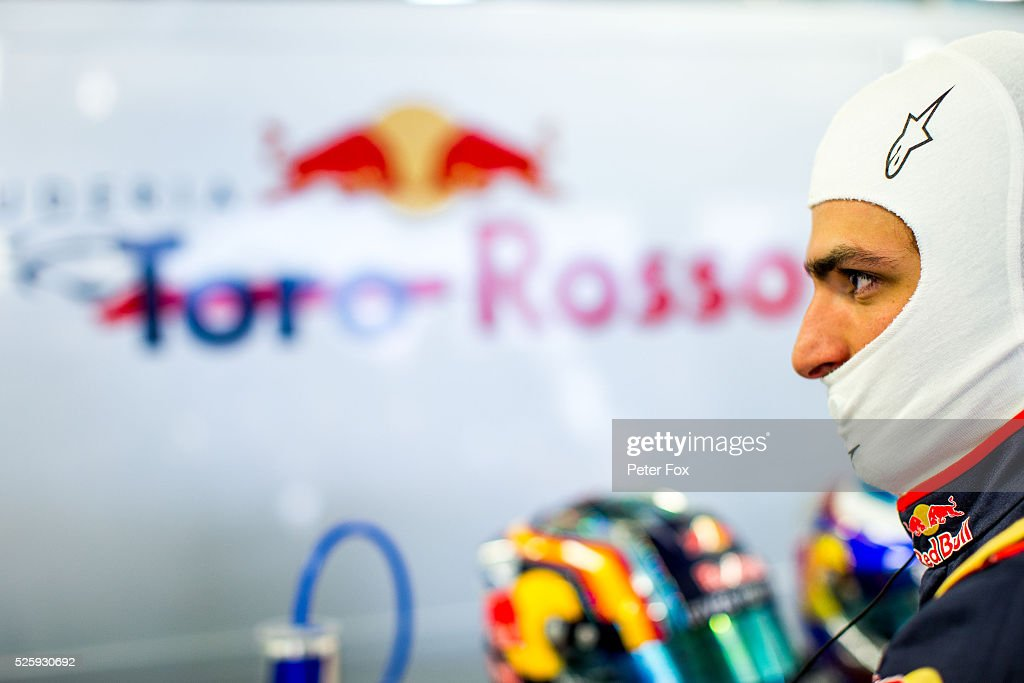Carlos Sainz of Scuderia Toro Rosso and Spain during practice for the Formula One Grand Prix of Russia at Sochi Autodrom on April 29, 2016 in Sochi, Russia.