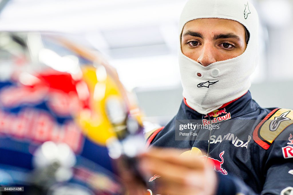 Carlos Sainz of Scuderia Toro Rosso and Spain during practice for the Formula One Grand Prix of Austria at Red Bull Ring on July 1, 2016 in Spielberg, Austria.