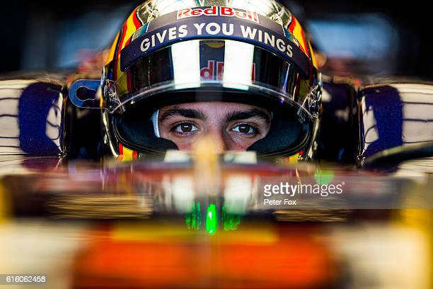 Carlos Sainz of Scuderia Toro Rosso and Spain during practice for the United States Formula One Grand Prix at Circuit of The Americas on October 21...