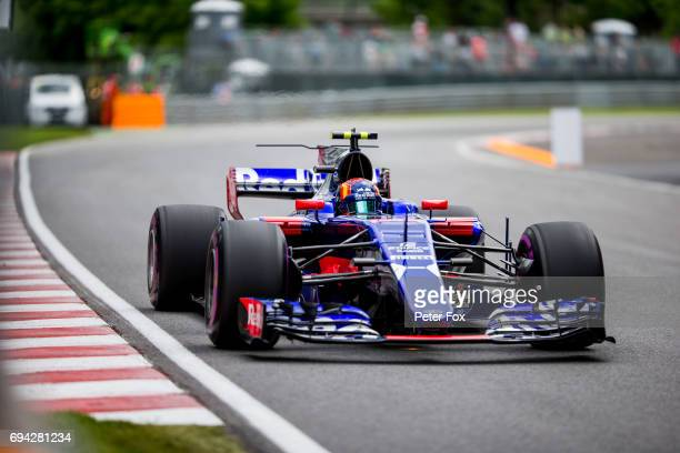 Carlos Sainz of Scuderia Toro Rosso and Spain during practice for the Canadian Formula One Grand Prix at Circuit Gilles Villeneuve on June 9 2017 in...