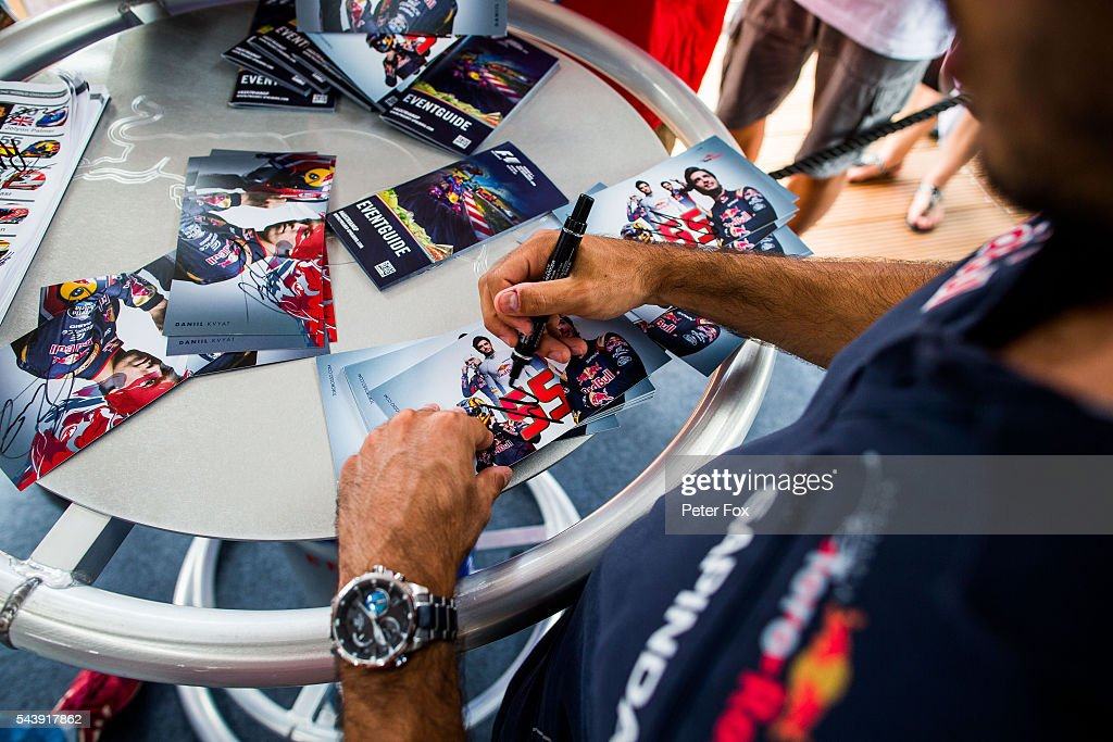 Carlos Sainz of Scuderia Toro Rosso and Spain during previews ahead of the Formula One Grand Prix of Austria at Red Bull Ring on June 30, 2016 in Spielberg, Austria.