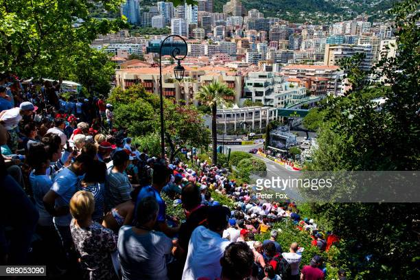 Carlos Sainz of Scuderia Toro Rosso and Spain during qualifying for the Monaco Formula One Grand Prix at Circuit de Monaco on May 27 2017 in...