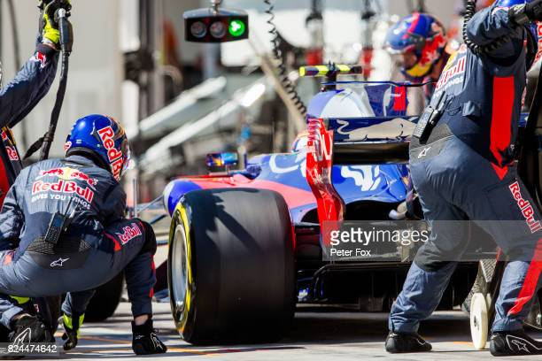 Carlos Sainz of Scuderia Toro Rosso and Spain during the Formula One Grand Prix of Hungary at Hungaroring on July 30 2017 in Budapest Hungary