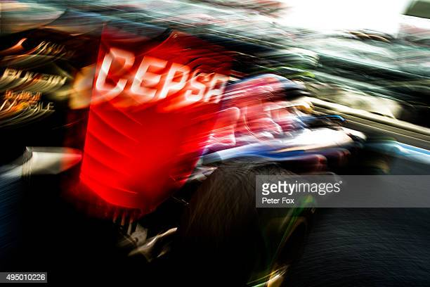 Carlos Sainz of Scuderia Toro Rosso and The Netherlands during practice for the Formula One Grand Prix of Mexico at Autodromo Hermanos Rodriguez on...