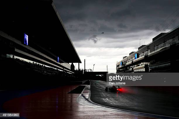 Carlos Sainz of Spain and Scuderia Toro Rosso drives during practice for the Formula One Grand Prix of Russia at Sochi Autodrom on October 9 2015 in...