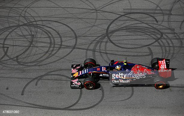 Carlos Sainz of Spain and Scuderia Toro Rosso drives during the Formula One Grand Prix of Austria at Red Bull Ring on June 21 2015 in Spielberg...