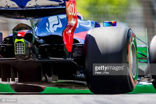 Carlos Sainz of Spain and Scuderia Toro Rosso during the Azerbaijan Formula One Grand Prix at Baku City Circuit on June 25 2017 in Baku Azerbaijan