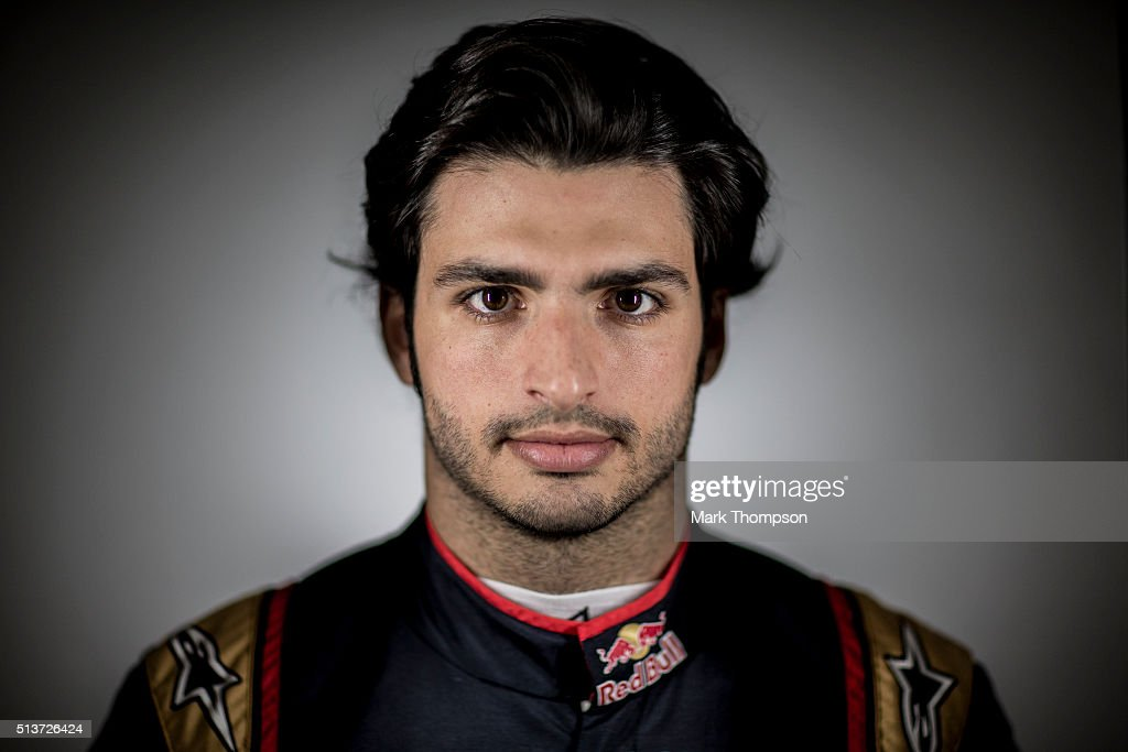 Carlos Sainz of Spain and Scuderia Toro Rosso poses poses for a portrait during day one of F1 winter testing at Circuit de Catalunya on March 1 2016...