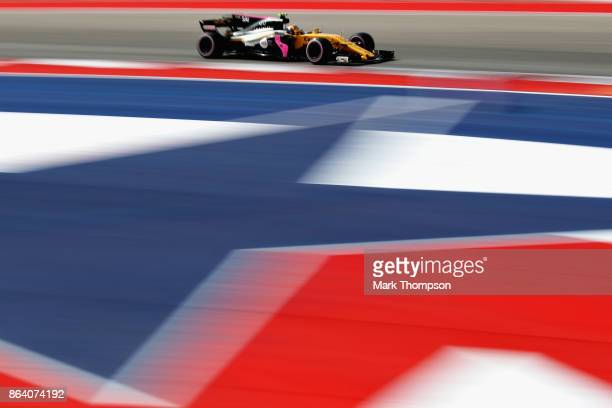 Carlos Sainz of Spain driving the Renault Sport Formula One Team Renault RS17 on track during practice for the United States Formula One Grand Prix...