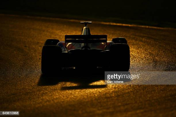 Carlos Sainz of Spain driving the Scuderia Toro Rosso STR12 on track during day two of Formula One winter testing at Circuit de Catalunya on March 8...