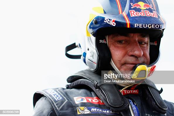 Carlos Sainz of Spain in the PEUGEOT 2008 DKR for TEAM PEUGEOT TOTAL gets ready to compete on day 6 during stage six of the 2016 Dakar Rally on...