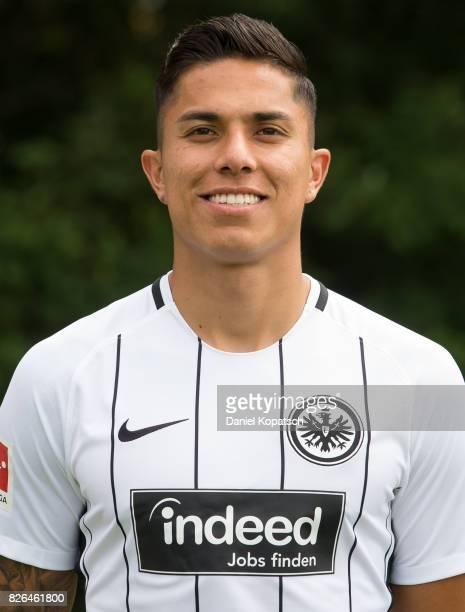 Carlos Salcedo of Eintracht Frankfurt poses during the team presentation at on August 4 2017 in Frankfurt am Main Germany