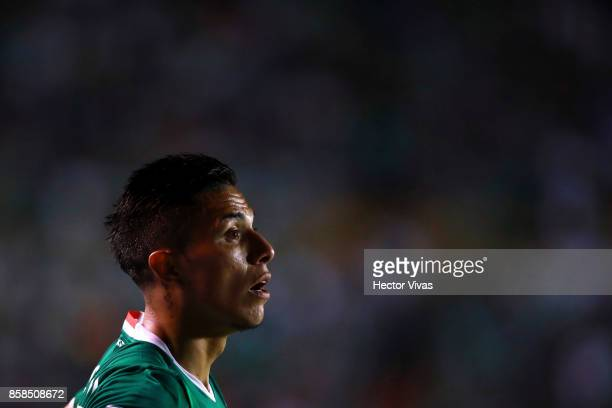 Carlos Salcedo of Mexico looks on during the match between Mexico and Trinidad Tobago as part of the FIFA 2018 World Cup Qualifiers at Alfonso...