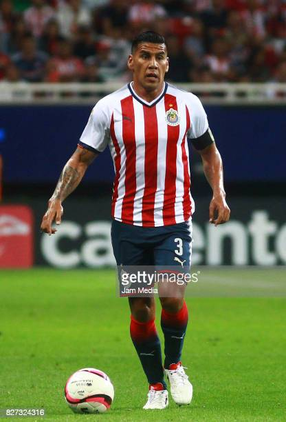 Carlos Salcido of Chivas drives the ball during the third round match between Chivas and Necaxa as part of the Torneo Apertura 2017 Liga MX at Chivas...