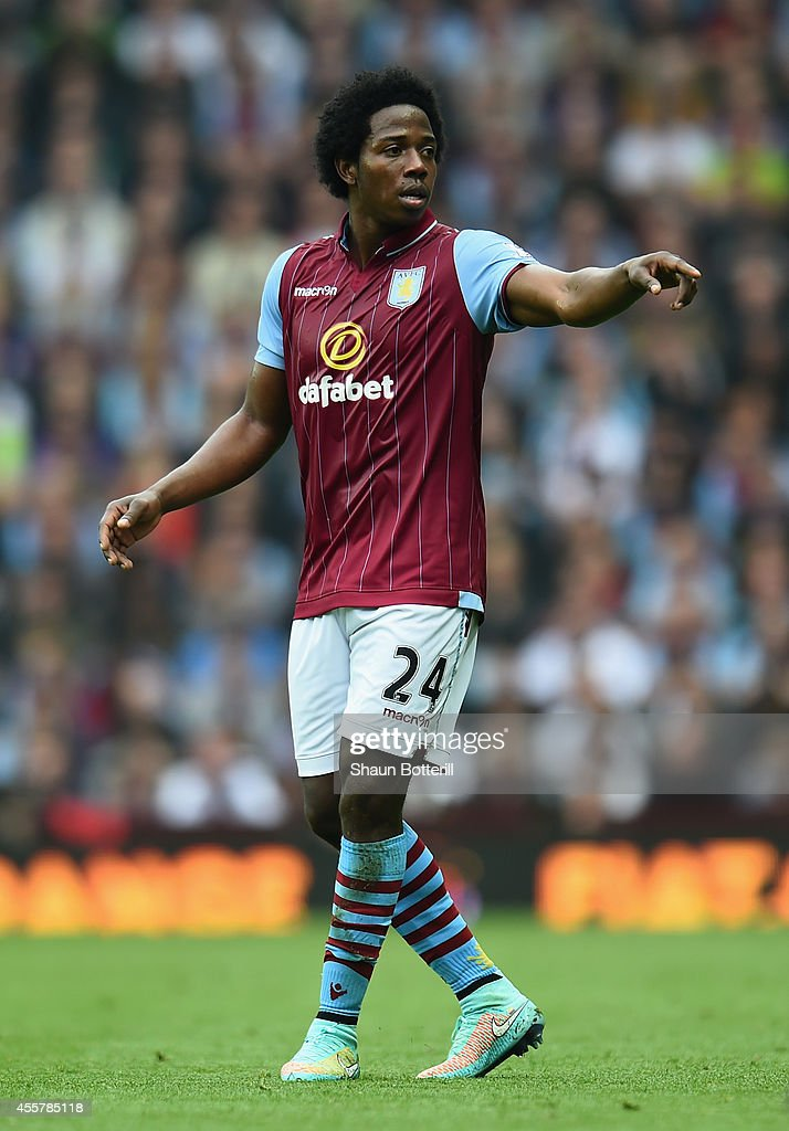 Carlos Sanchez of Aston Villa during the Barclays Premier League match between Aston Villa and Arsenal at Villa Park on September 20 2014 in...