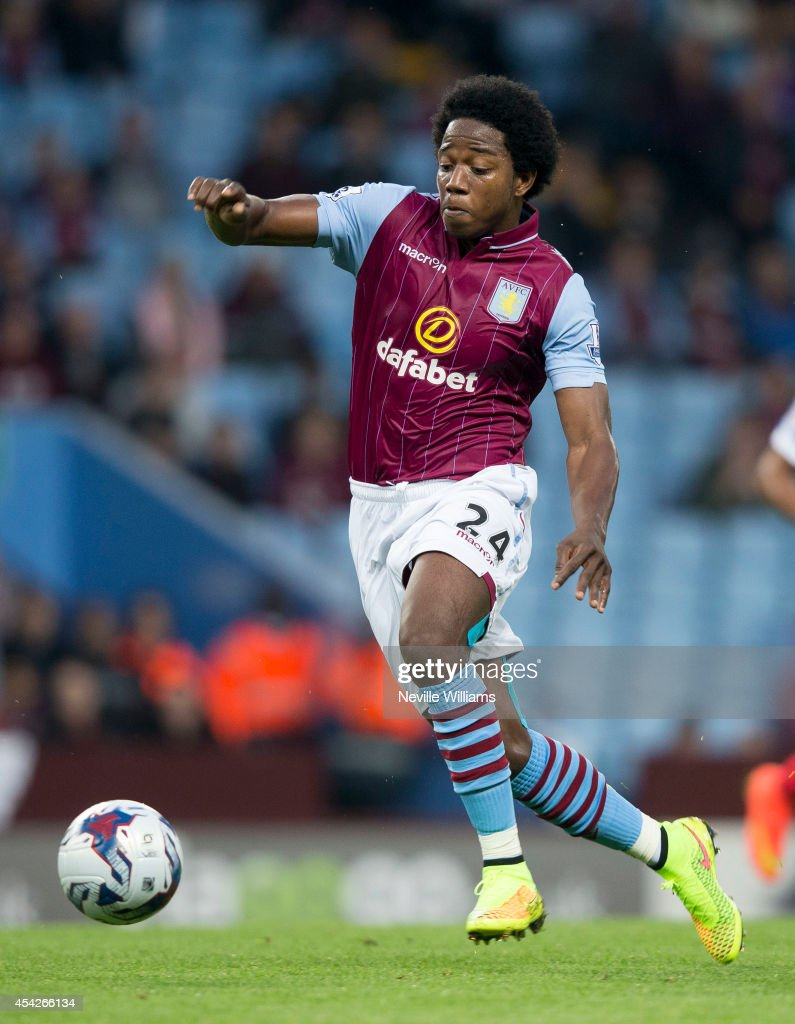 Carlos Sanchez of Aston Villa during the Capital One Cup second round match between Aston Villa and Leyton Orient at Villa Park on August 27, 2014 in Birmingham, England.