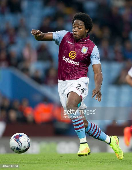 Carlos Sanchez of Aston Villa during the Capital One Cup second round match between Aston Villa and Leyton Orient at Villa Park on August 27 2014 in...