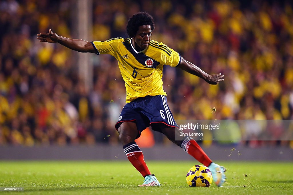 Carlos Sanchez of Colombia in action during the International Friendly between the USA and Colombia at Craven Cottage on November 14 2014 in London...