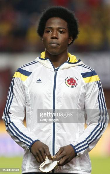 Carlos Sanchez of Colombia looks on before the International Friendly Match between Colombia and Senegal at Pedro Bidegain Stadium on May 31 2014 in...