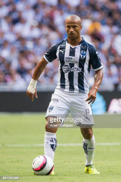 Carlos Sanchez of Monterrey controls the ball during the 4th round match between Monterrey and Chivas as part of the Torneo Apertura 2017 Liga MX at...