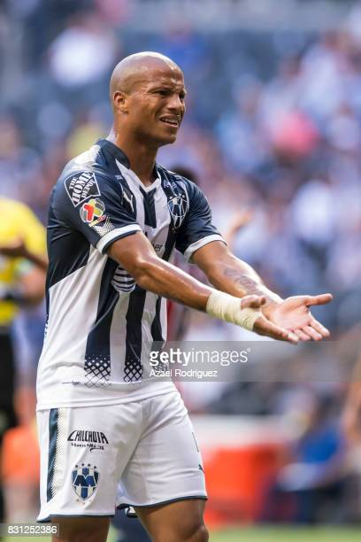 Carlos Sanchez of Monterrey reacts during the 4th round match between Monterrey and Chivas as part of the Torneo Apertura 2017 Liga MX at BBVA...