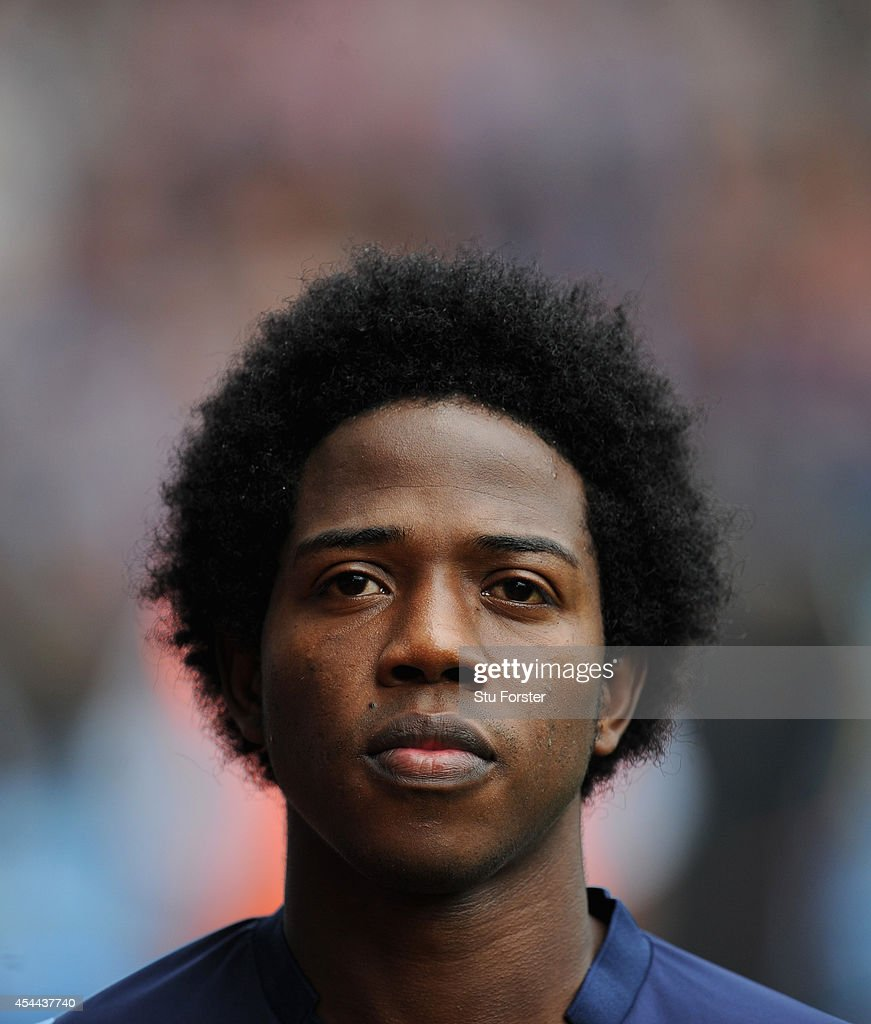 Carlos Sanchez of Villa in action during the Barclays Premier League match between Aston Villa and Hull City at Villa Park on August 31 2014 in...