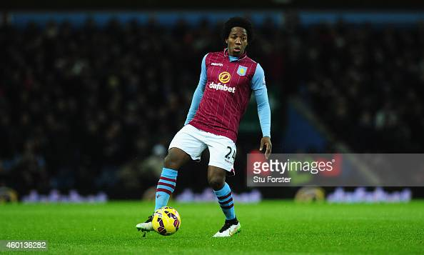 Carlos Sanchez of Villa in action during the Barclays Premier League match between Aston Villa and Leicester City at Villa Park on December 7 2014 in...