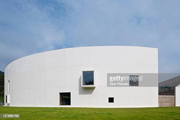 Carlos Santamaria Centre Library University Of The Basque Country Cumpus San Sebastian Spain Ander Marquet Ryan Jaam Exterior View Of White Concrete...