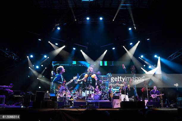Carlos Santana and his band perform at 2016 Many Rivers to Cross Festival at Bouckaert Farm on October 1 2016 in Fairburn Georgia